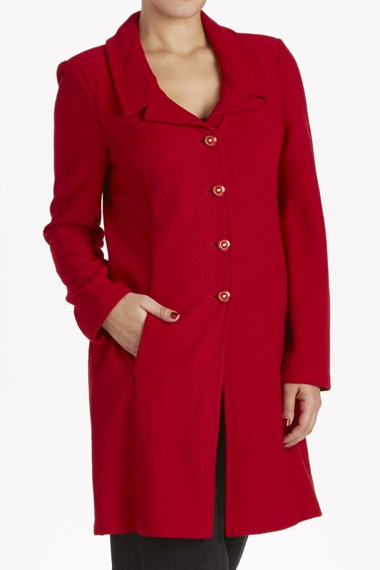 St John Knits Collection Red Long Knit Jacket (10)