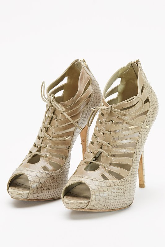 Christian Dior Beige Cage Heels (8/38)