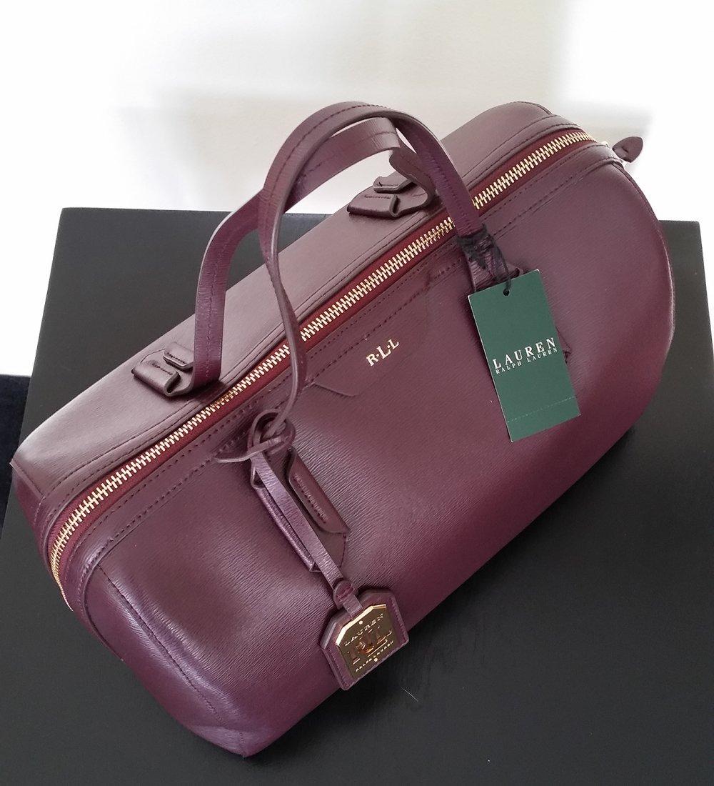 Ralph Lauren Wine Satchel Bag