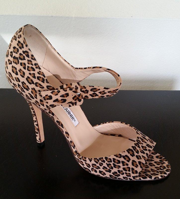 Authentic New Manolo Blahnik Leopard Heels 37 7
