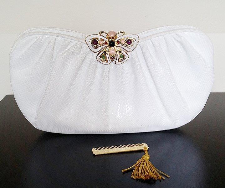 RARE! Judith Leiber Large Gemstone Butterfly Clutch Bag