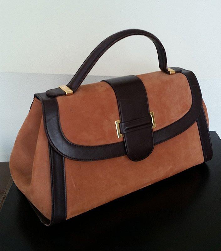 Vintage Saks Fifth Avenue Large Suede Handbag