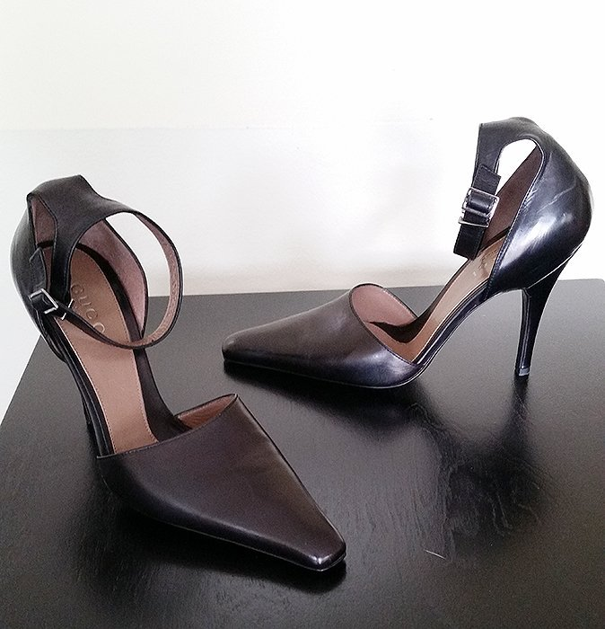 Brand New Gucci Leather Heels 8.5 C