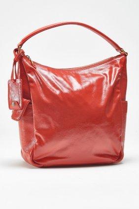 Ysl Yves Saint Laurent Red Patent Hobo Bag