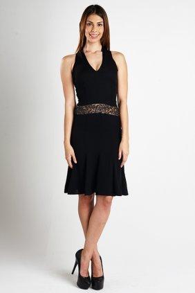 Valentino Black Dress With Beaded Waist (6)