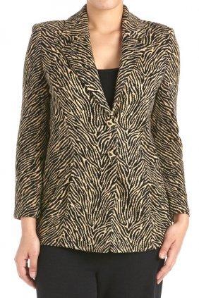 St John Collection Animal Print Santana Knit Jacket (6)
