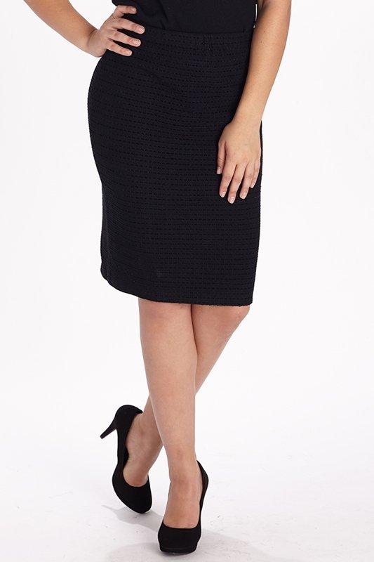St John Knits Evening Tonal Black Design Skirt (6)