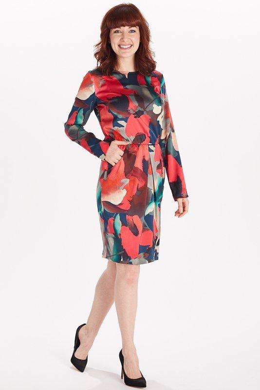 St John Knits Floral Stretch Silk Dress (4)