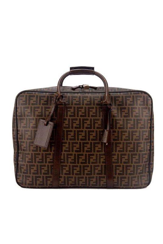 New Fendi Zucca Logo Carryon Overnight Luggage Suitcase