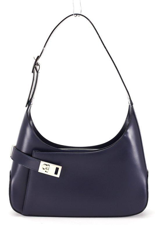 Salvatore Ferragamo Navy Blue Medium Hobo Bag