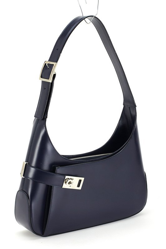 Salvatore Ferragamo Navy Blue Medium Hobo Bag - 2