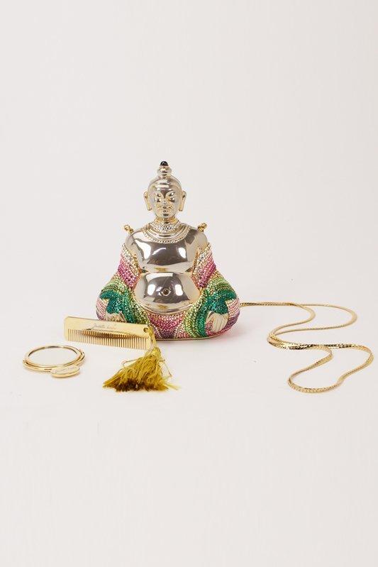 Judith Leiber Buddha Crystal Evening Bag