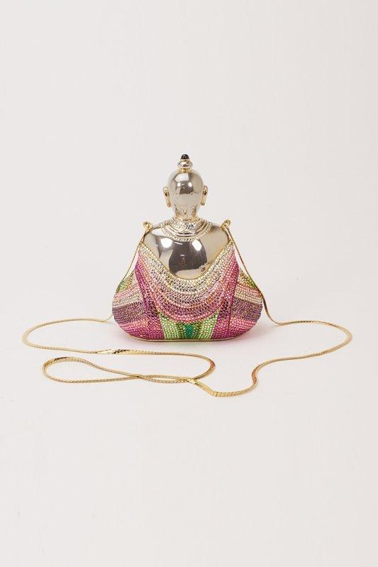 Judith Leiber Buddha Crystal Evening Bag - 5