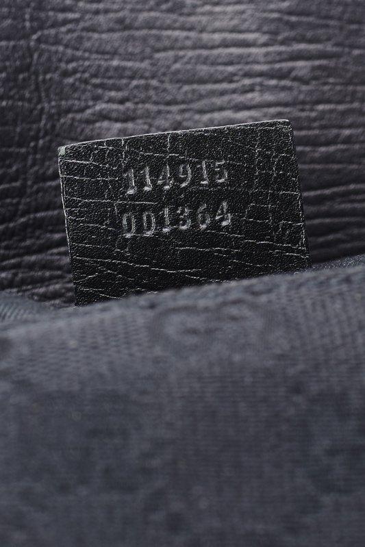 Gucci Black Monogram Horsebit Shoulder Bag - 4