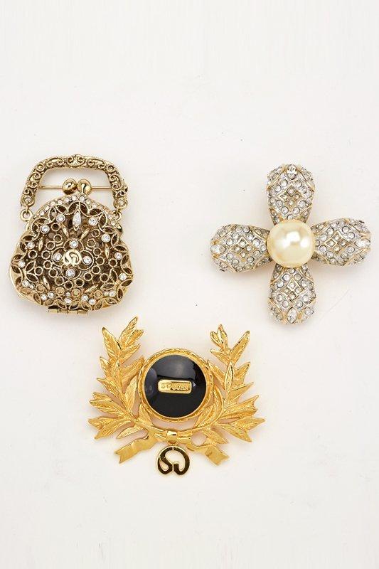 St John Knits Set of 3 Vintage Designer Brooches
