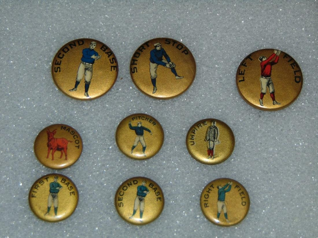 Early Sports Pin Back Lot. - 2