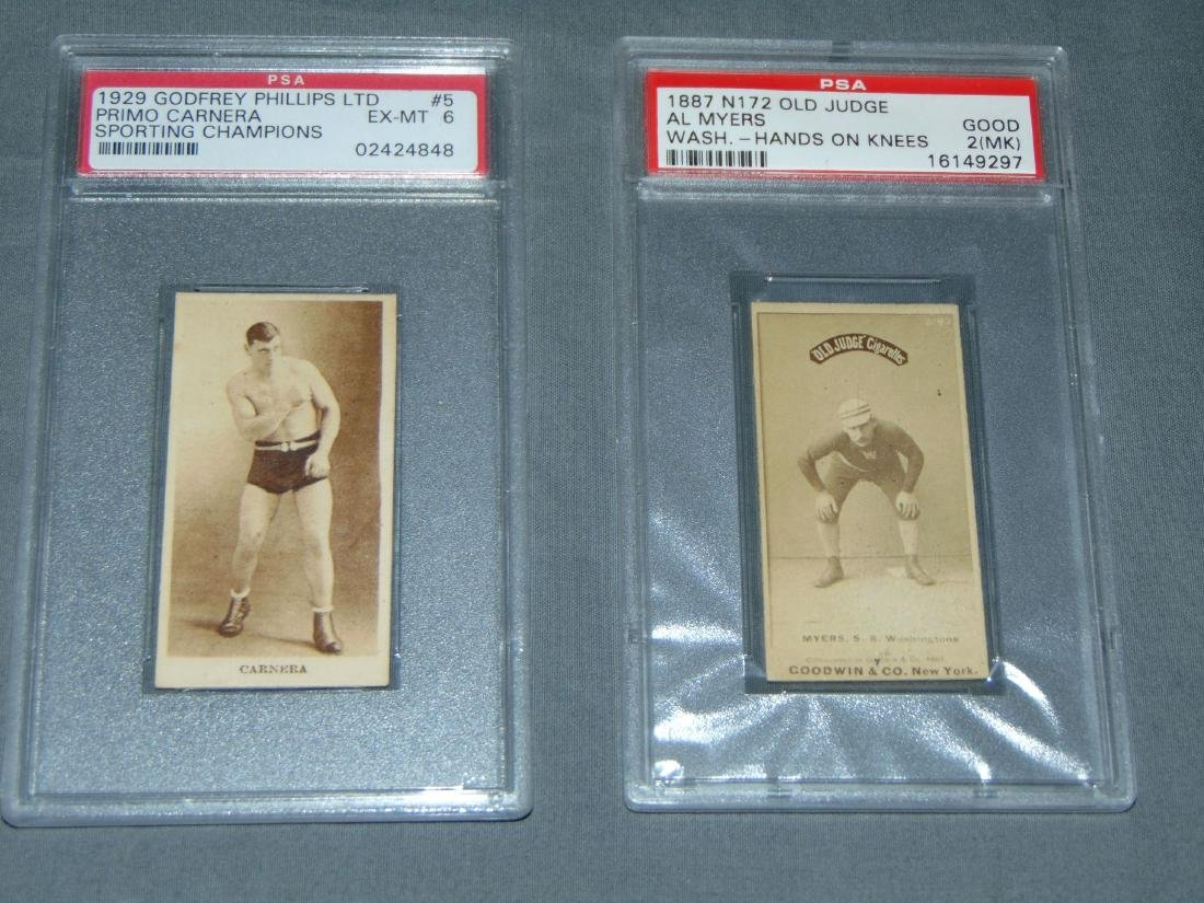 Lot of Two PSA Graded Sports Cards.