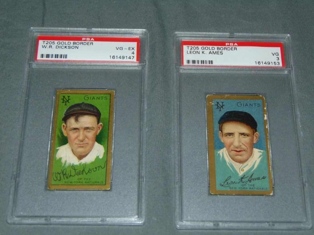 T-205 NY Giants Lot of Two Graded.