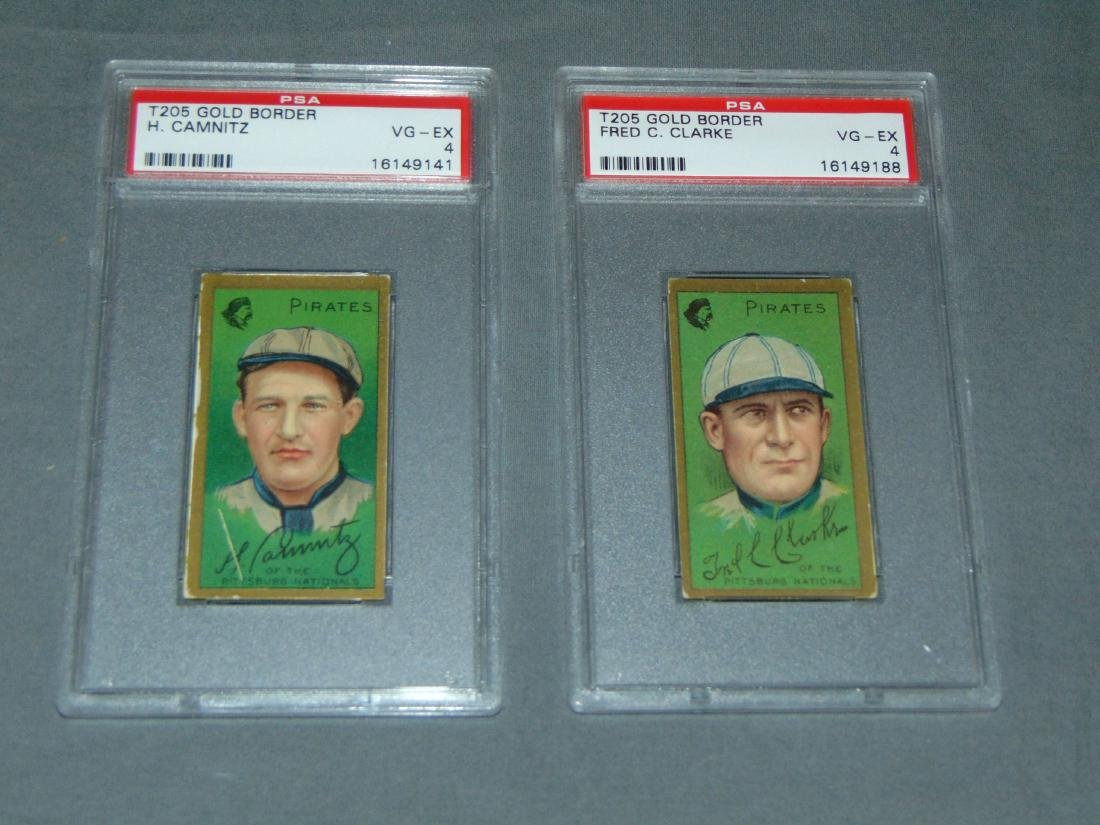 T-205 Pirates Lot of Two Graded.