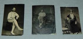 Lot of Three 19th Century Baseball Tintypes.