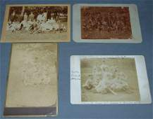 Lot of Four Cabinet Size Baseball Photos.