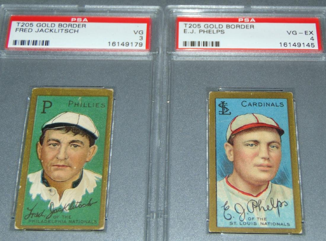 T-205 Lot of Five PSA Graded. - 2