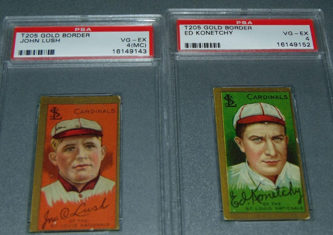 T-205 Lot of Five PSA Graded. - 3