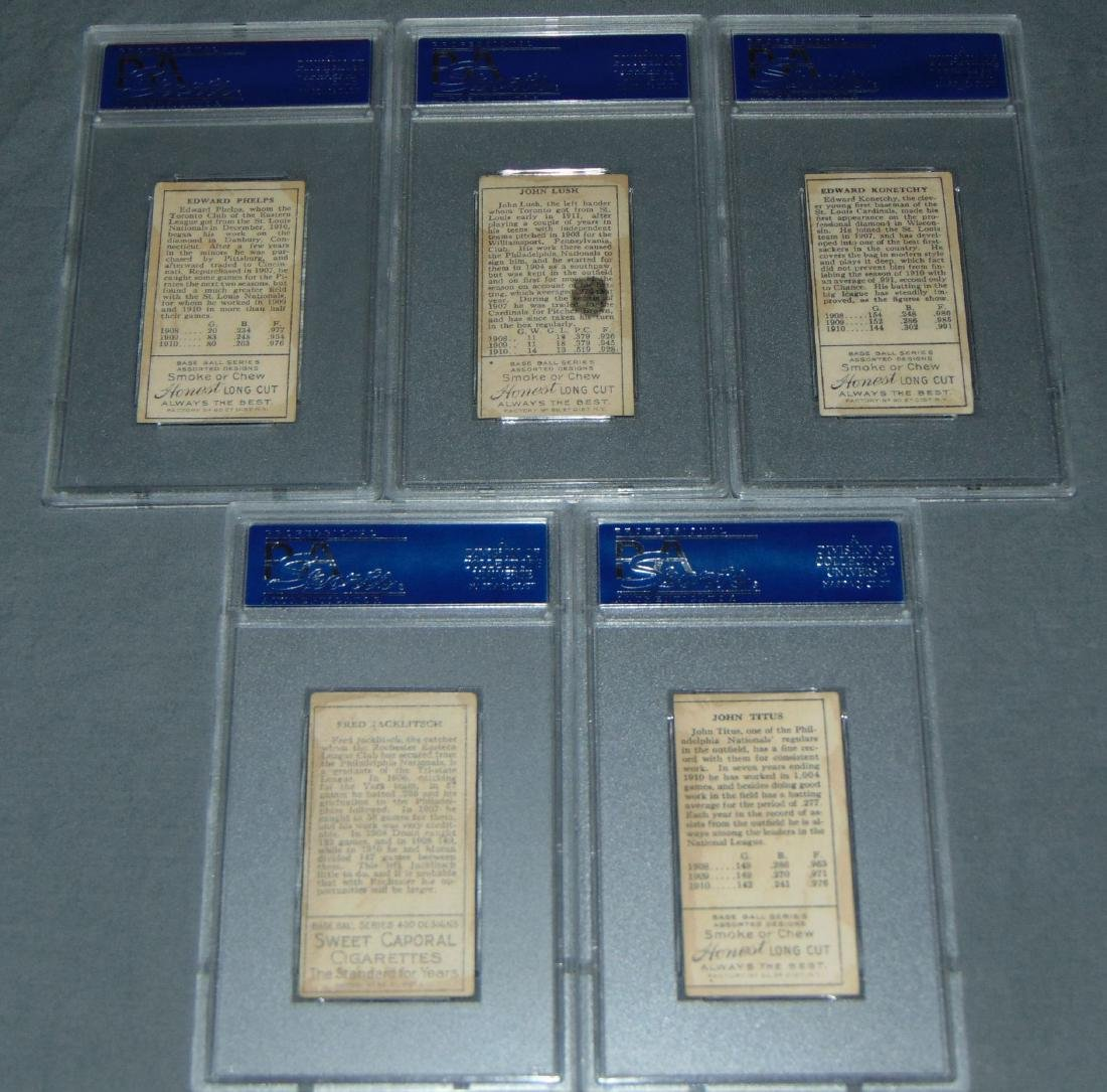 T-205 Lot of Five PSA Graded. - 5