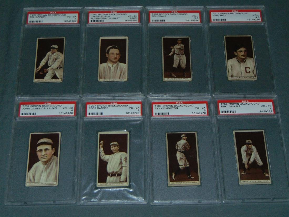 T-207 PSA Graded Lot of Eight.