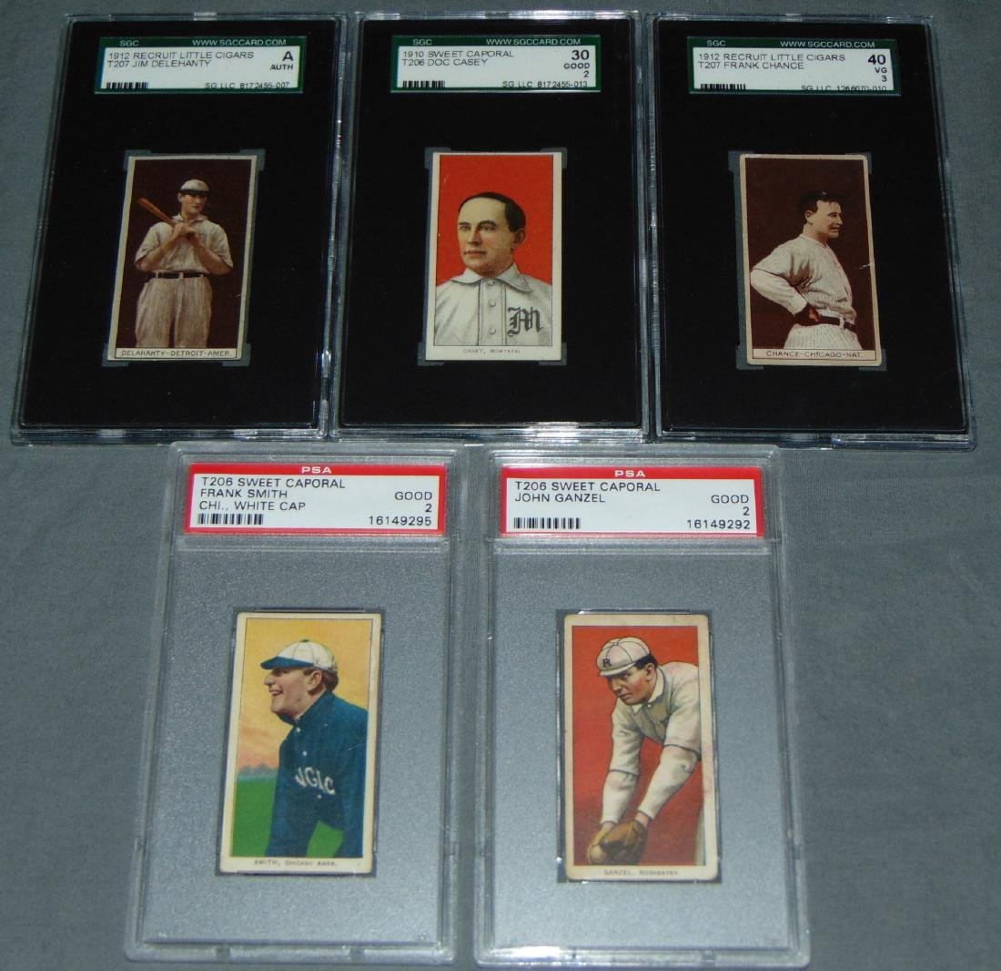 Lot of Five Graded Baseball Cards.