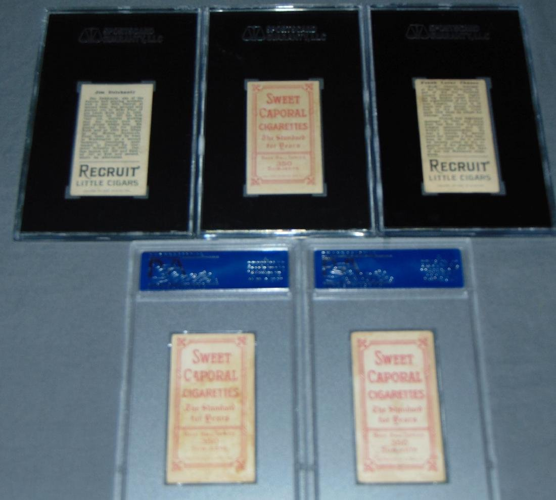 Lot of Five Graded Baseball Cards. - 4