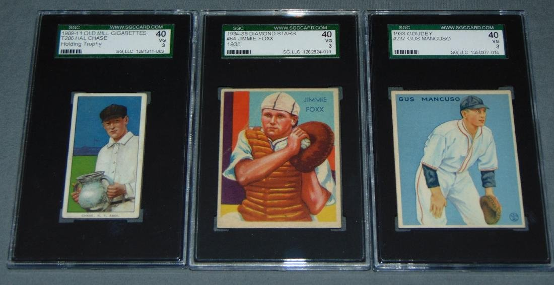 Lot of Three SGC Graded Baseball Cards.
