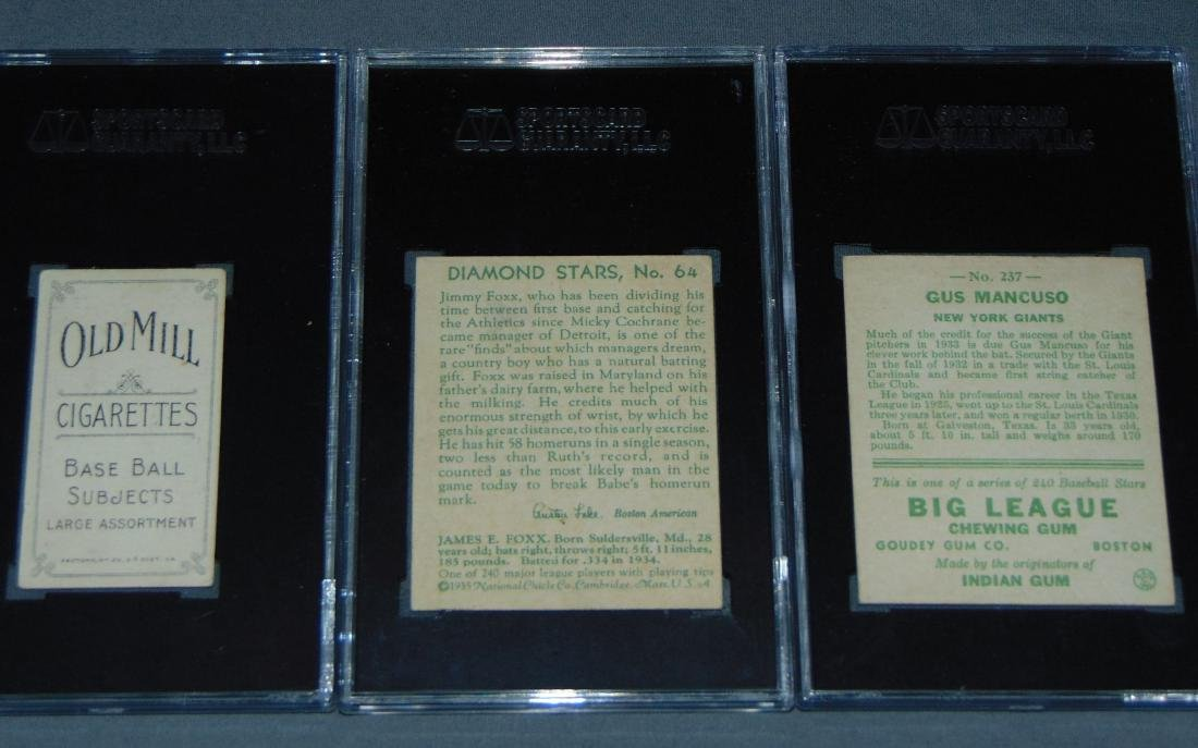Lot of Three SGC Graded Baseball Cards. - 5