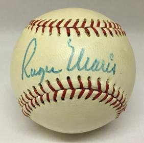 Single Signed Baseball. Roger Maris. JSA.