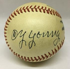 Single Signed Baseball. Cy Young. JSA.