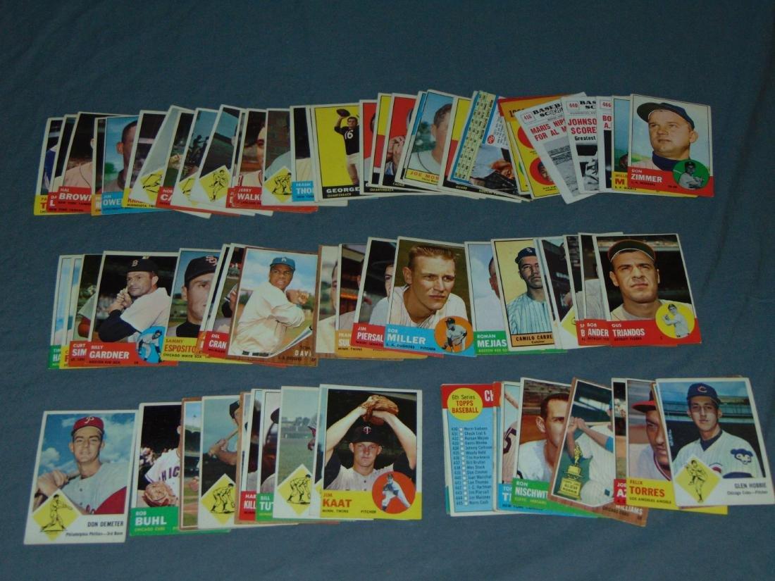 1960's Baseball and Football Card Lot.