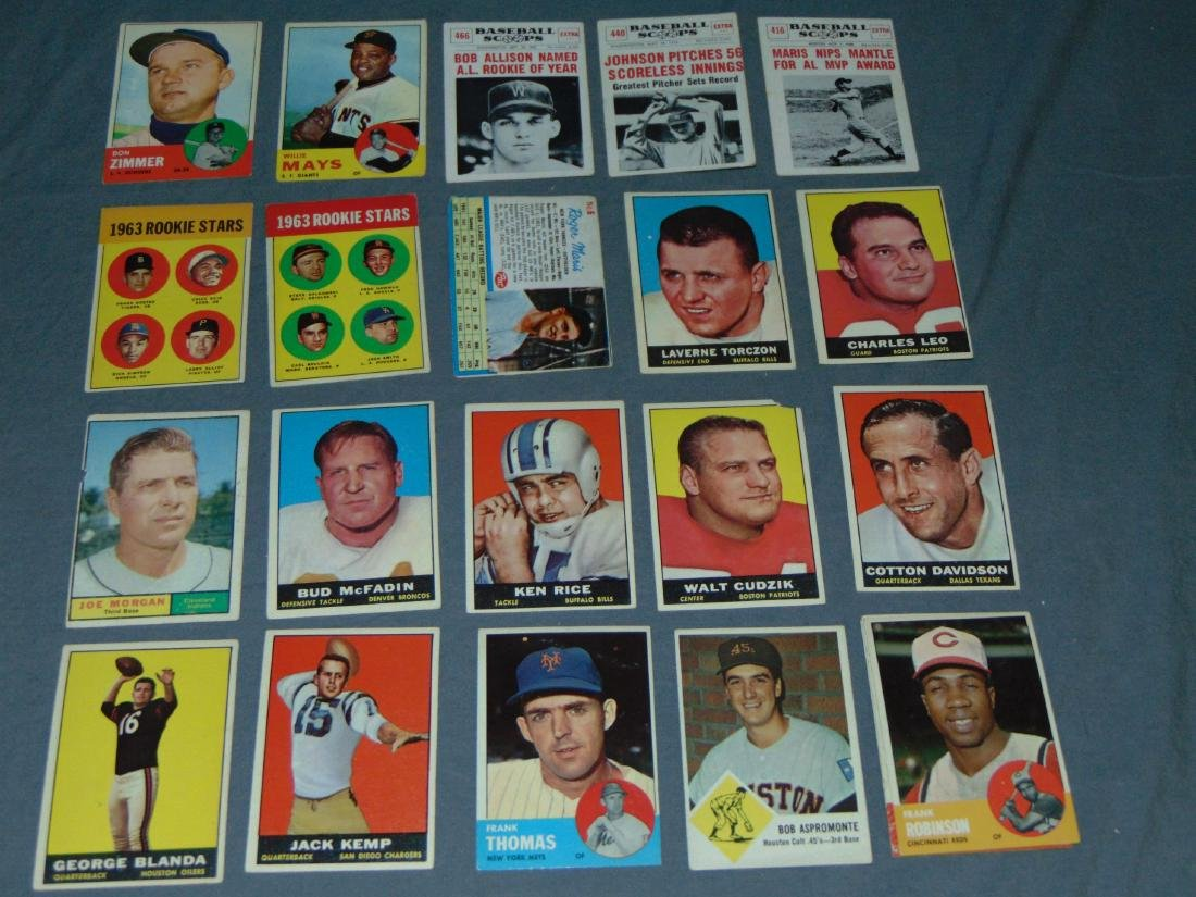 1960's Baseball and Football Card Lot. - 2