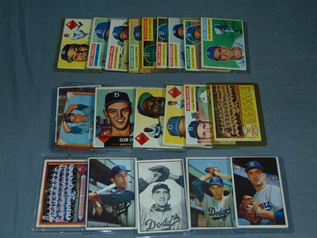 Brooklyn Dodgers Baseball Card Lot. - 3