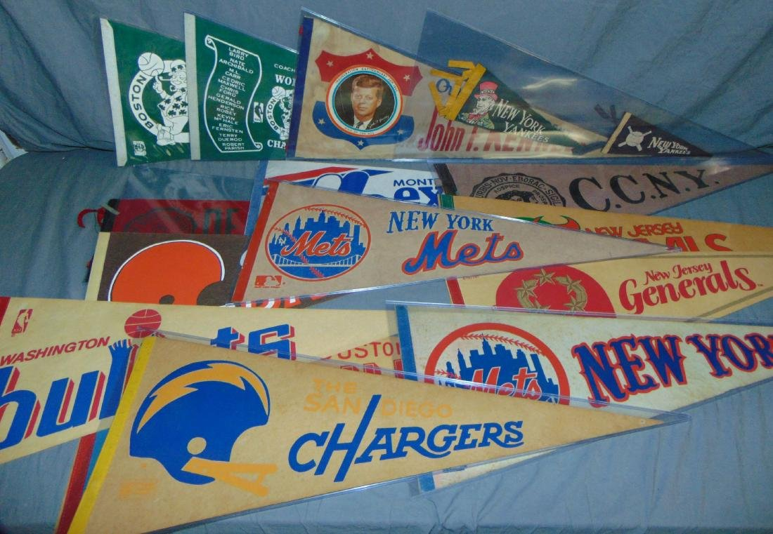 Vintage Sports Pennant Lot