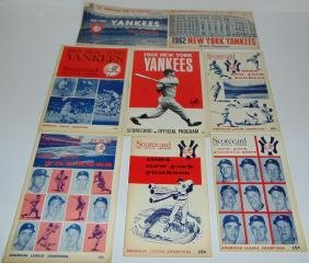 Lot of 1960's NY Yankees Program/Scorecards