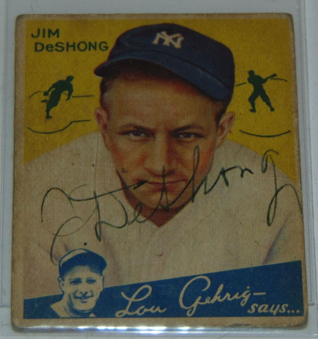 1933 Goudey. Lot of Five Signed Cards. - 3