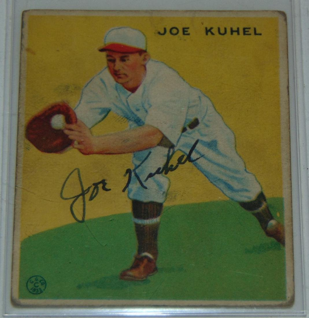 1933 Goudey. Lot of Five Signed Cards. - 4