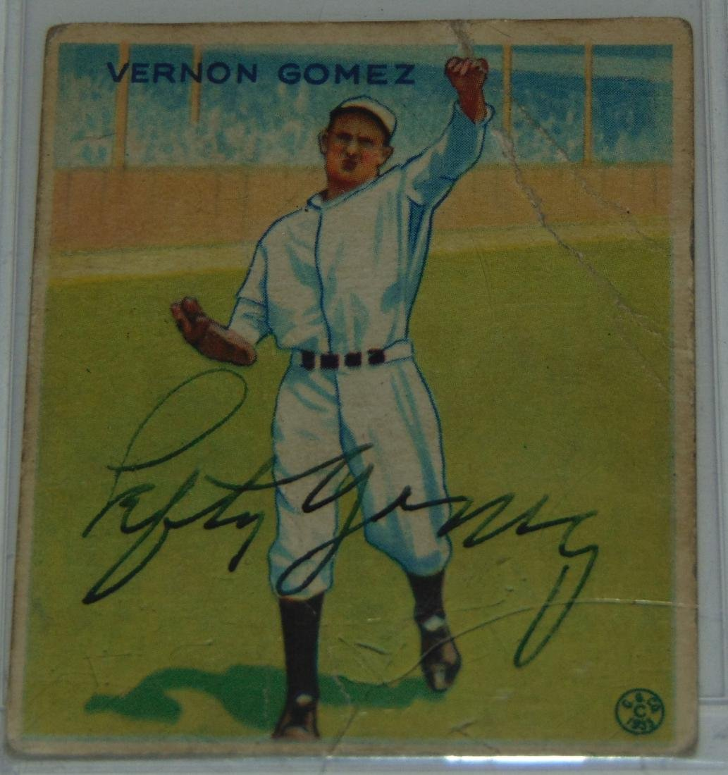 1933 Goudey. Lot of Five Signed Cards. - 6