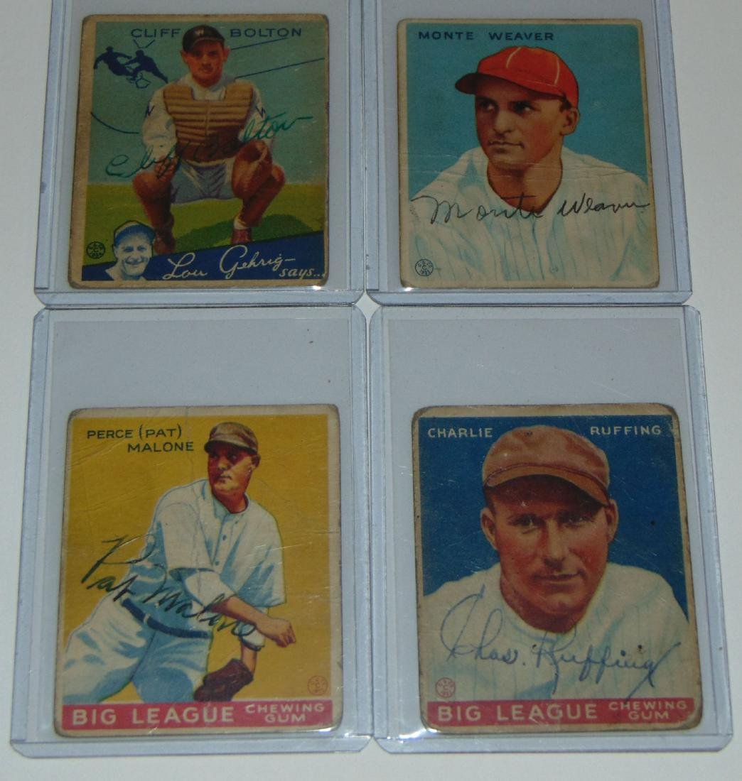1933 Goudey. Lot of (13) Signed Cards. - 2