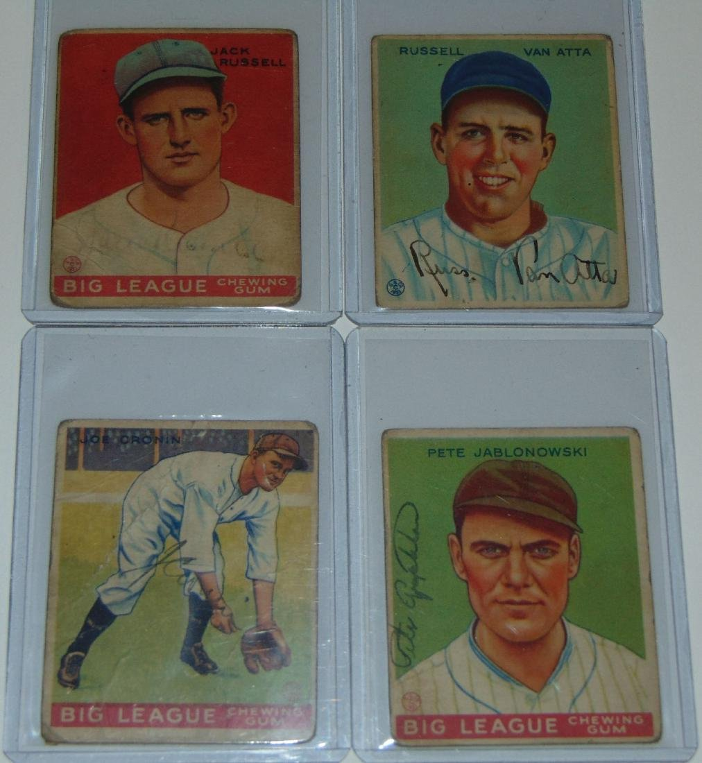 1933 Goudey. Lot of (13) Signed Cards. - 3