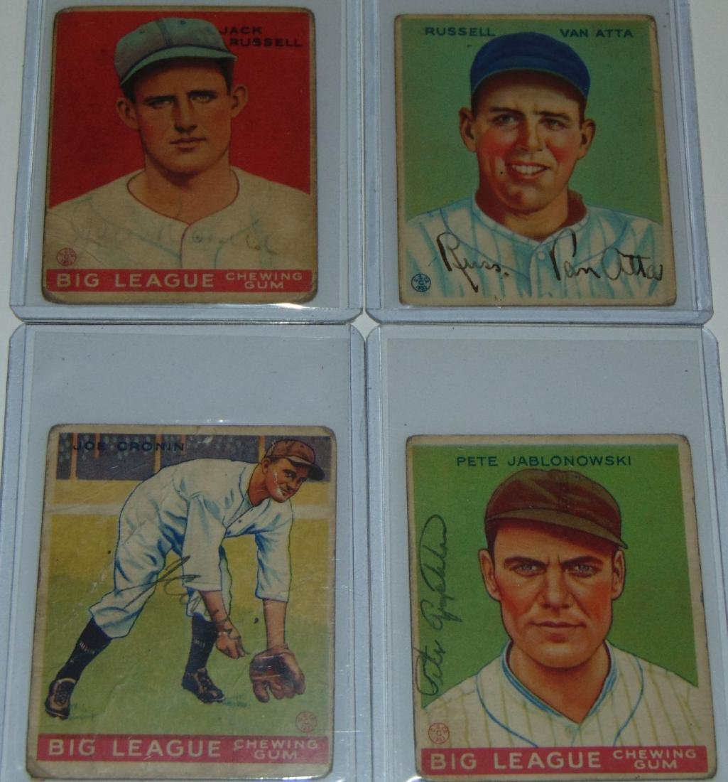 1933 Goudey. Lot of (13) Signed Cards. - 4