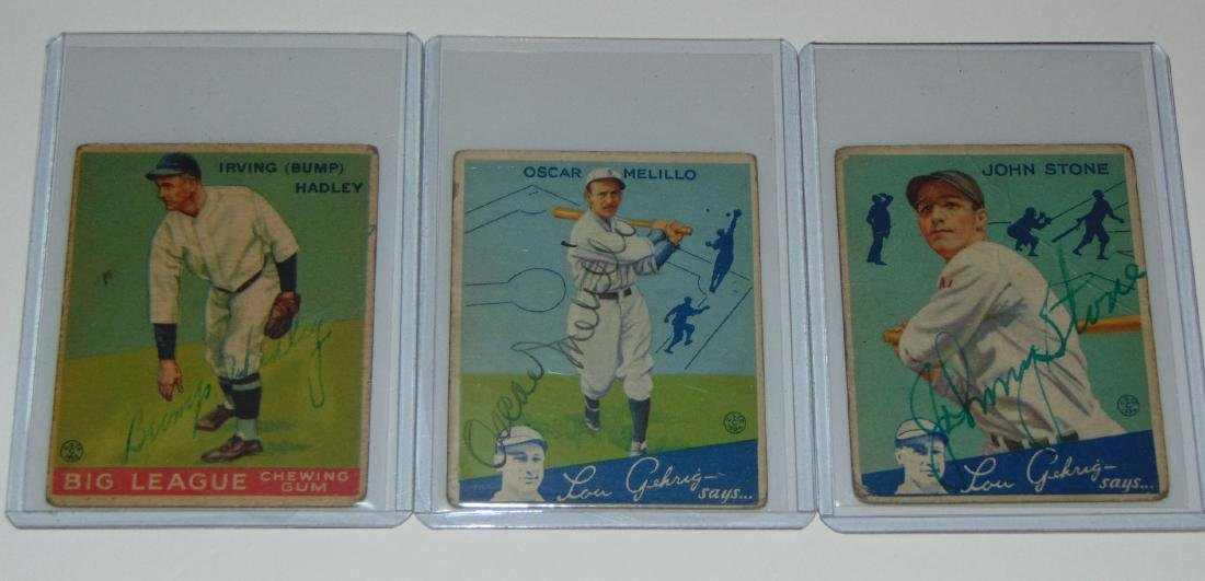 1933 Goudey. Lot of (13) Signed Cards. - 5