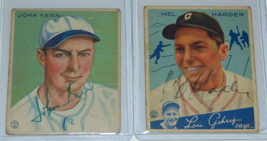1933 Goudey. Lot of (13) Signed Cards. - 6