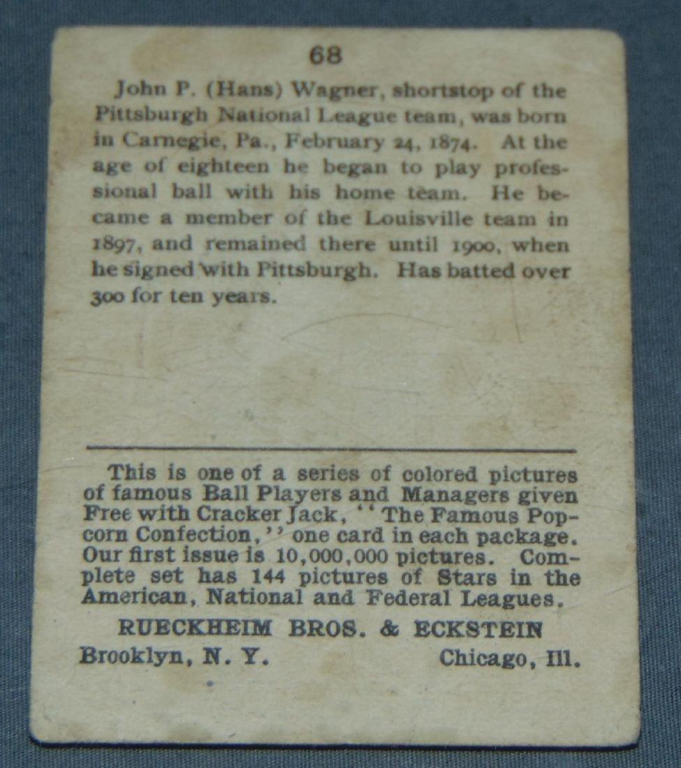 Honus Wagner Cracker Jack #68. - 2