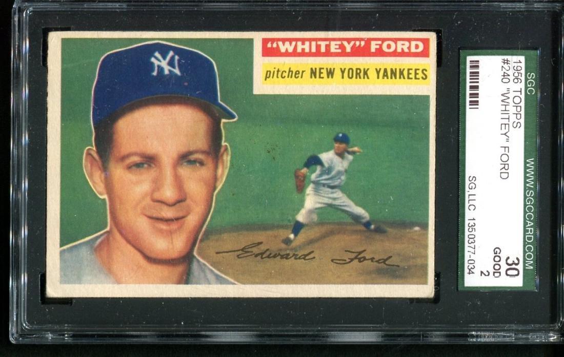 Lot of Three 1950's Topps Stars Graded. - 2